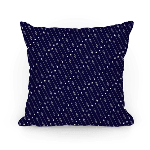 Navy Diagonal Arrow Pattern