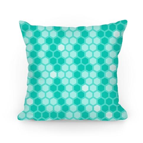 Teal Geometric Honeycomb Pattern
