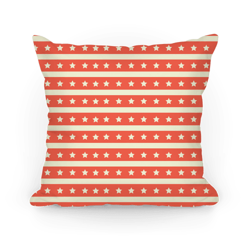 Coral Stars and Stripes Pattern