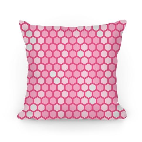 Pink Geometric Honeycomb Pattern