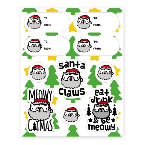 Meowy Catmas Gift Tags