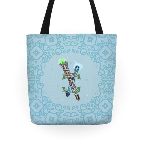 Watercolor Doctor Who Icon (Sonic Screwdrivers) tote