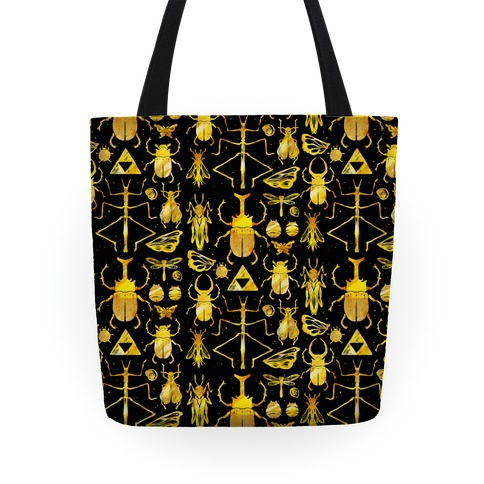Golden Bug Collector Tote