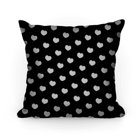 Black and White Polka Dot Hearts