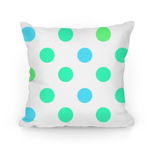 Big Polka Dot Pillow (mint)