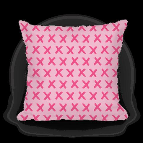 Pink Criss Cross Pattern