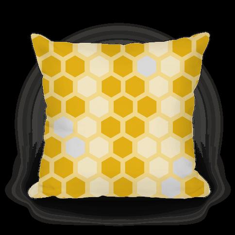 Large Yellow Geometric Honeycomb Pattern