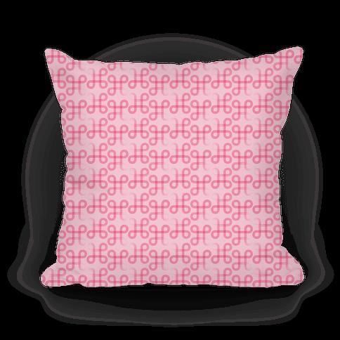 Pink Geometric Loop Pattern