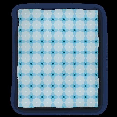 Blue Geometric Flower Pattern