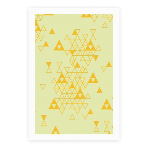 Geometric Triforce Pattern