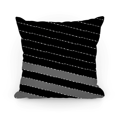 Black and White Diagonal Dashed Stripes Pattern