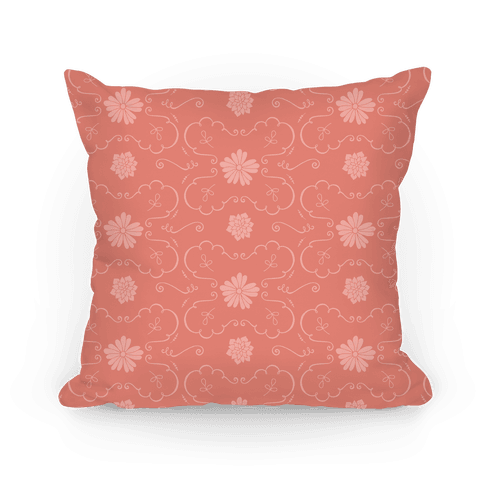 Coral Floral Wallpaper Pattern
