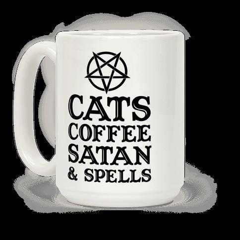 Cats Coffee Satan & Spells
