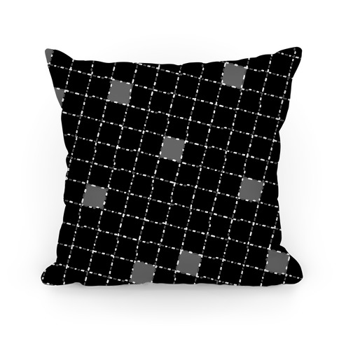 Black and White Dashed Checkers Pattern