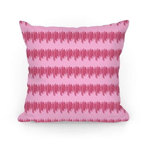 Pink Radio Wave Pattern