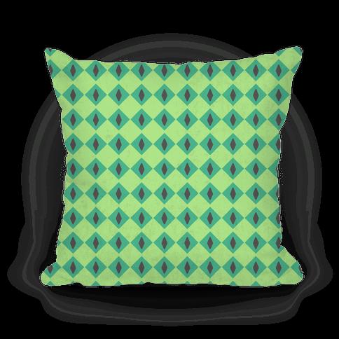 Green Diamond Eyes Pattern