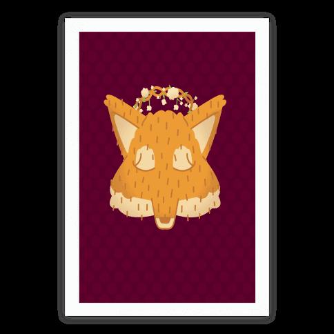 Flower Crown Fox Face