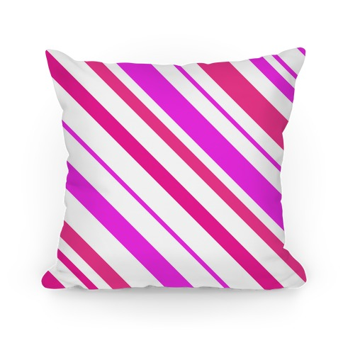 Pink Striped Pillow