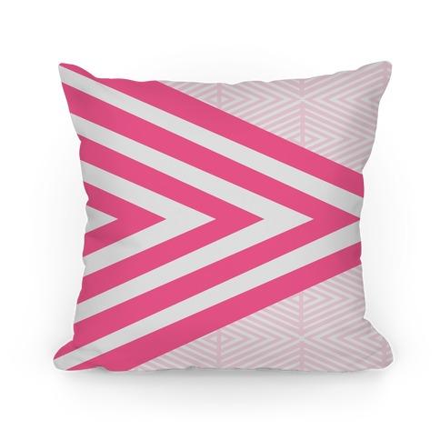 Large Pink Geometric Diamond Pattern