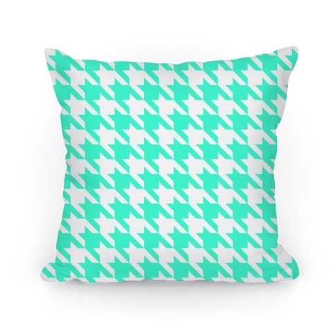 Houndstooth Pillow (mint)