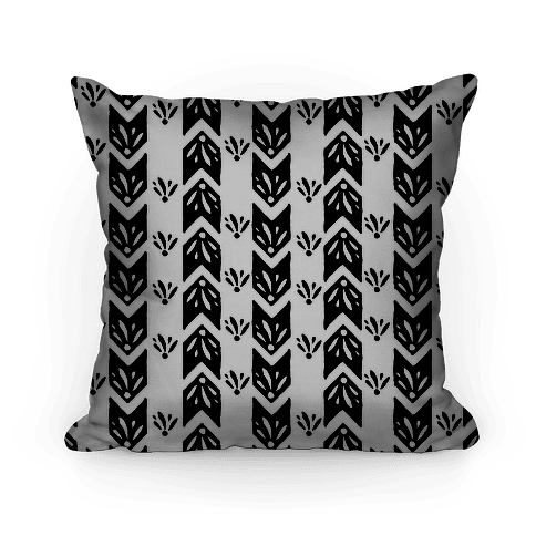 Black Floral Chevron Pattern