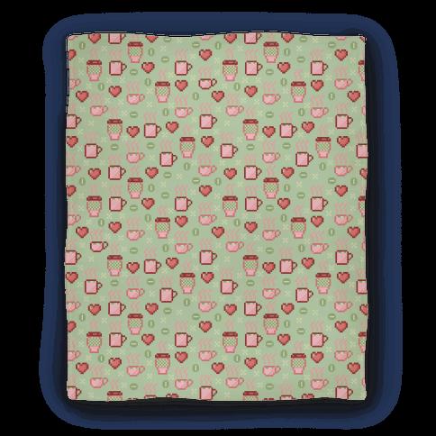 Pastel Coffee Pixel Art Pattern