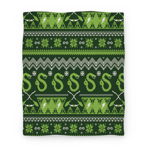Hogwarts Ugly Christmas Sweater Pattern: Slytherin