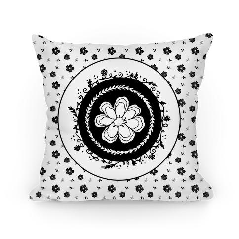 Springtime Floral Mandala (Black and White)