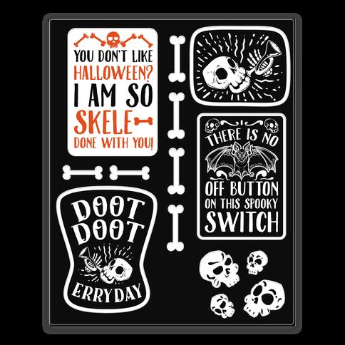 Creepy Creppy Halloween stickers