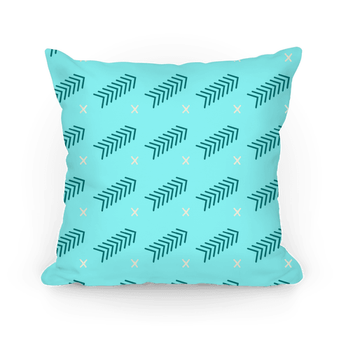Teal Abstract Chevron Pattern