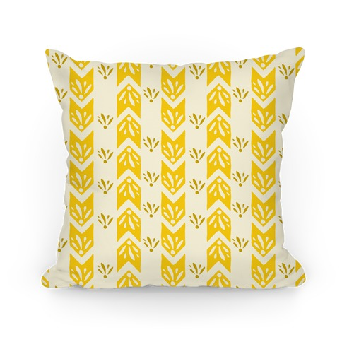 Yellow Floral Chevron Pattern
