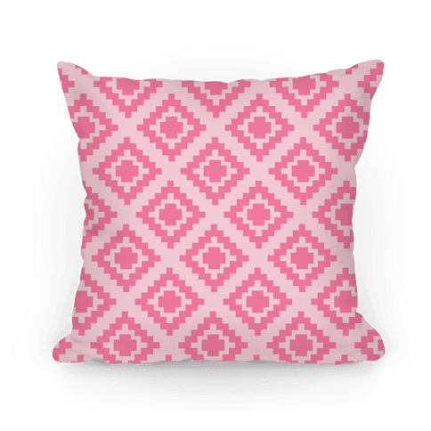 Pink Tribal Diamond Pattern