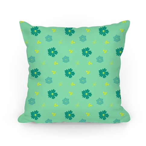 Green Floral Tossed Pattern