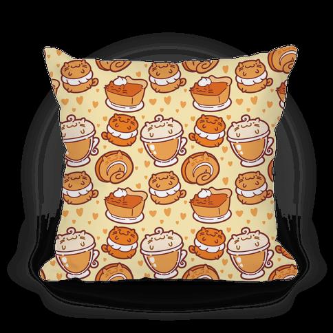 Purrmpkin Spice Cat Pillow