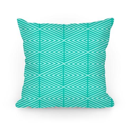 Teal Geometric Diamond Pattern