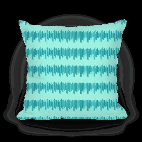 Teal Radio Wave Pattern