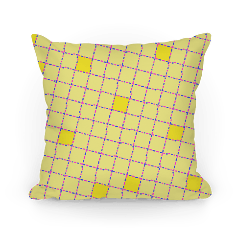 Yellow Dashed Checkers Pattern