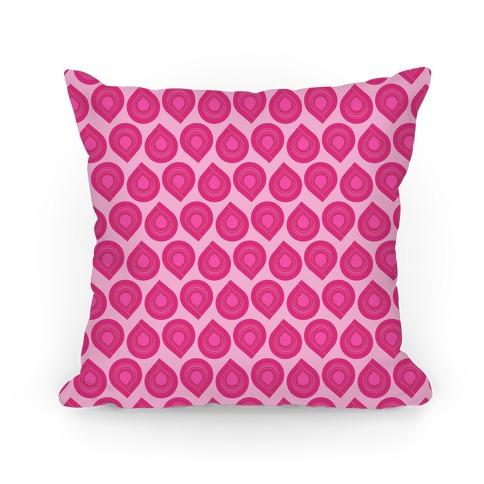 Retro Pink Tear Drop Pattern