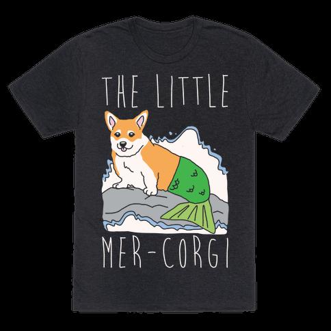 The Little Mer-Corgi Parody White Print