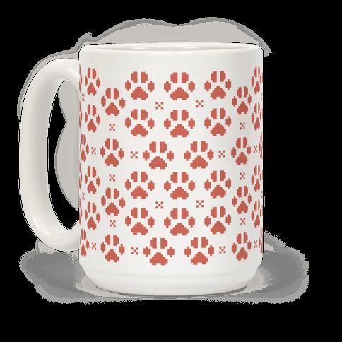 Pixel Kitty Cat Paw Prints