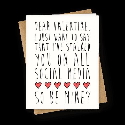 Dear Valentine (Stalker)