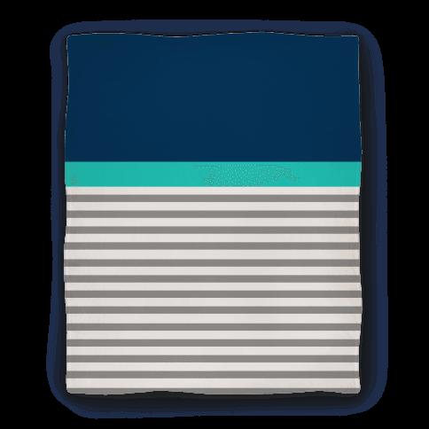 Blue Color Block Stripe