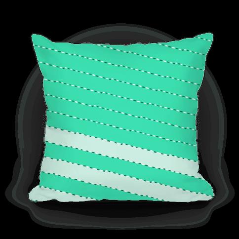 Aqua Diagonal Dashed Stripes Pattern