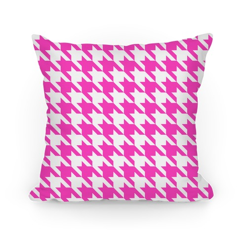 Houndstooth Pillow (pink)