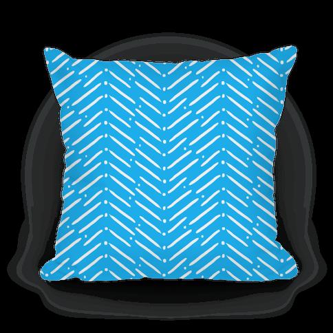 Blue Tribal Doodle Pattern