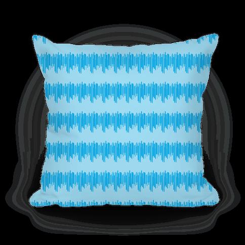 Blue Radio Wave Pattern