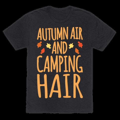 Autumn Air And Camping Hair White Print