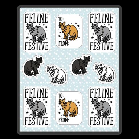 Feline Festive Sticker Sheet