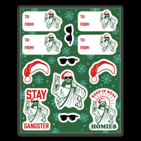 Gangster Christmas Jesus Gift Tag