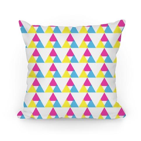Cyan Magenta Yellow Triangle Pattern